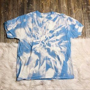 CHAMPION Men's Custom Tie Dye Shirt Large Logo